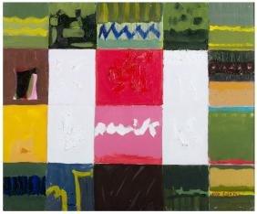 ENZO FILONI Composizione Astratta Olio su tela cm 45 x