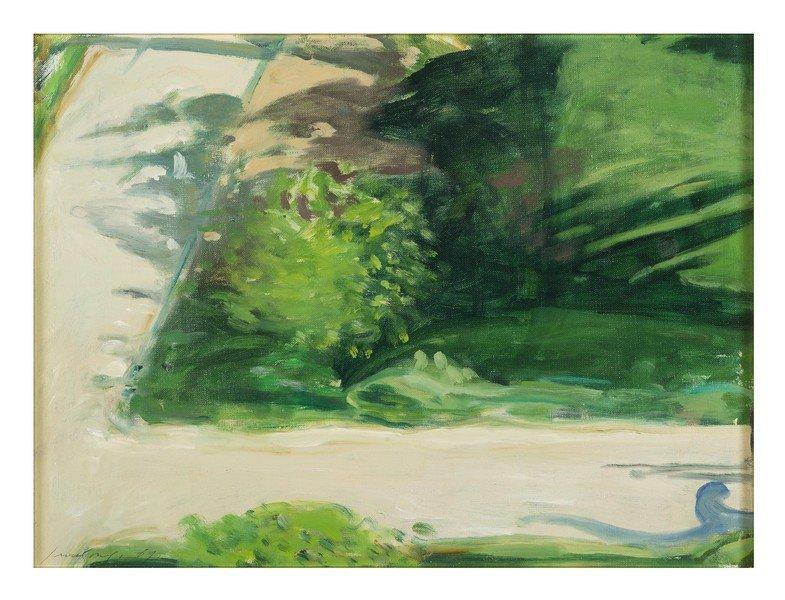 116 Piero Guccione Scicli 1935 gardens shadows, 1969