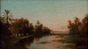 Wiliam. Wyld Londra 1806 - 1889 Arab Scene On The River
