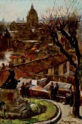 Antonio Barrera Roma 1889 - 1970 Il Pincio 1950