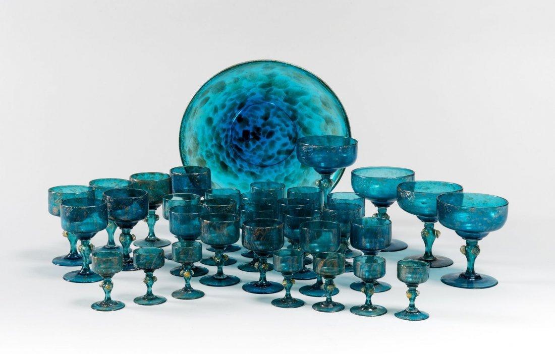 LIGHT BLU GLASSES SET