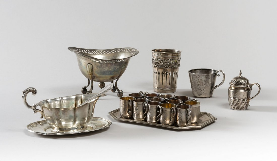 DIFFERENT SILVER OBJECTS
