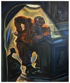PETER HOWSON Olio materico su tela 252 x 214