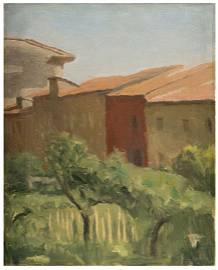 GIORGIO MORANDI The Courtyard 1941 oil on canvas