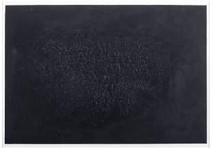 ALBERTO BURRI Cretto nero D 1971 Calcography