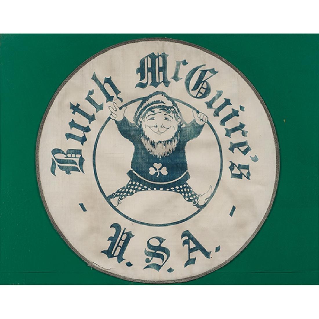 Butch McGuire's, framed logo, print on canvas, 20
