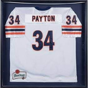 Chicago Sports, Walter Payton framed replica jersey /