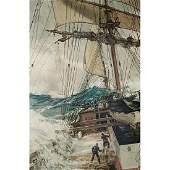 Montague Dawson, (British, 1890-1973), The Rising Wind,