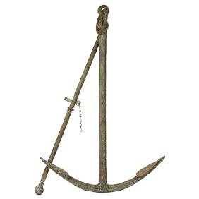 "Antique Maritime, boat anchor, overall: 27 1/2""w x 5"