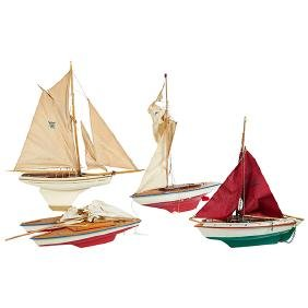Vintage Children's Nautical Toy, Sailboats, a group of