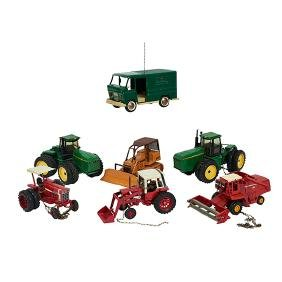 Various Makers, Children's Toys, delivery van, farm and