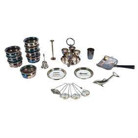 Barware, group lot of twenty (20) items:, set of eight