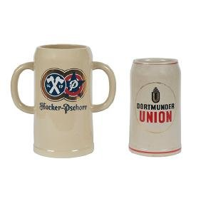 Breweriana Advertising, oversized beer steins, two:,