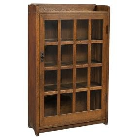 Gustav Stickley, bookcase, #715, Eastwood, NY, oak,
