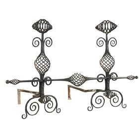 Arts & Crafts, In The Style of The Roycrofters, andiron