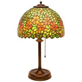 The Handel Lamp Company, Floral desk lamp, Meriden, CT,