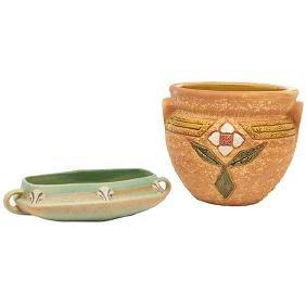 Roseville Pottery Co., Monticello bowl, Zanesville, OH,