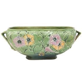 Roseville Pottery Co., Morning Glory window box,