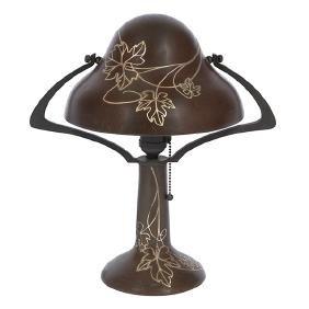 Heintz, Helmet table lamp, #5504, Buffalo, NY, bronze,