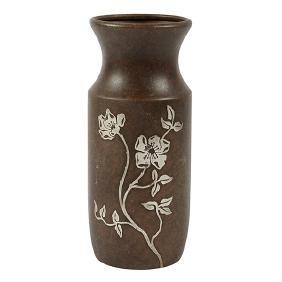 Heintz, Dogwood vase, #3832, Buffalo, NY, bronze,