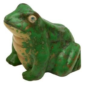 The Weller Pottery Company, Frog figure, Zanesville,