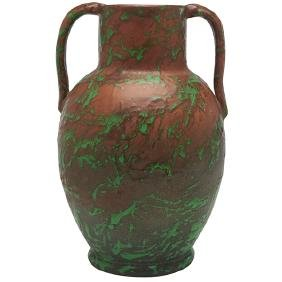 The Weller Pottery Company, handled vase, Zanesville,
