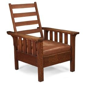 Stickley Brothers, Attribution, Morris chair, Grand