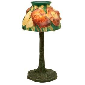 The Pairpoint Corporation, Puffy Rose boudoir lamp on a
