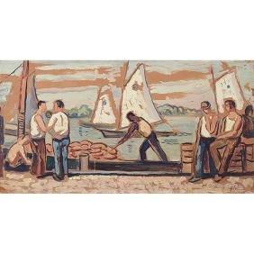 Edgar Hewitt Nye, (American, 1879-1943), Provincetown