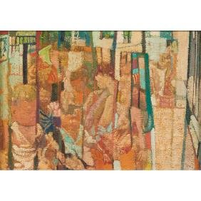 Anthony Toney, (American, 1913-2004), Playground, oil