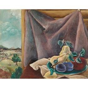 Reginald Wilson, (American, 1909-1993), Still Life, oil