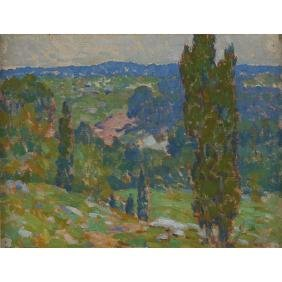Roy Brown, (American, 1879-1956), Landscape, oil on
