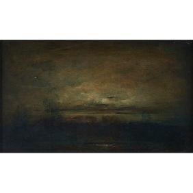 Felix Russmann, (American, 1888-1962), Florescent Moon,