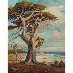 George Koch, (American, 1884-1951), Landscapes (a pair