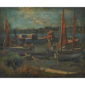 Harold Harrington Betts, (American, 1881-1951), Boats
