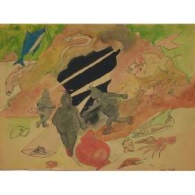 Allan Rohan Crite, (American, 1910-2007), Untitled,