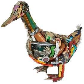 Leo Sewell, (American, b. 1945), Duck, 1986, mixed