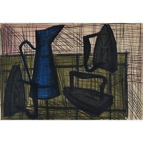 Bernard Buffet, (French, 1928-1999), Still Life, color