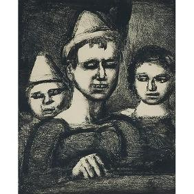 Georges Rouault, (French, 1871-1958), Trio, lithograph,