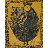 Milton Avery, (American, 1885-1965), Hen, 1954, color
