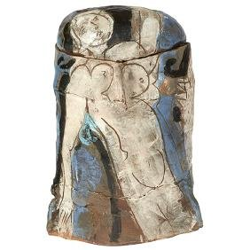 Rudy Autio (1926-2007), large covered vessel, Montana,