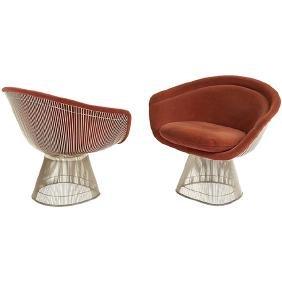 Warren Platner (1919-2006) Knoll lounge chairs, pair