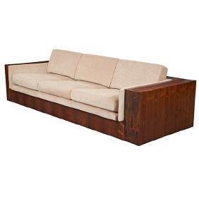 "Milo Baughman for Thayer Coggin rosewood sofa, 102"""