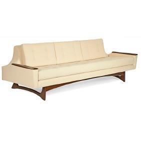 Mid-century Modern, sofa, USA, 1950s-60, walnut