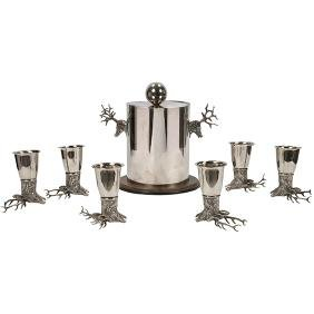 Gucci, Cocktail Service, Italy, 1970s, silverplate,