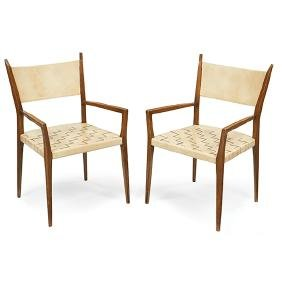 Paul McCobb (1917-1969) for Directional, armchairs,