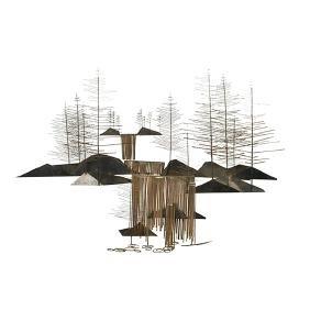 Curtis Freiler & Jerry Fels C. Jere Waterfall sculpture