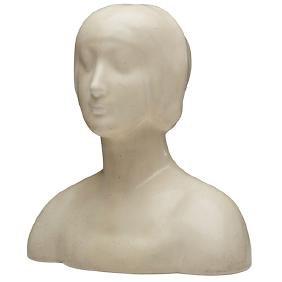 Rookwood Pottery, bust, likely #2026, Cincinnati, OH,