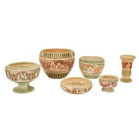 Roseville Pottery Co., Donatello, low bowl,