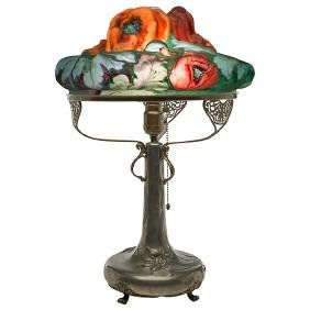 The Pairpoint Corporation, Puffy Poppy table lamp on